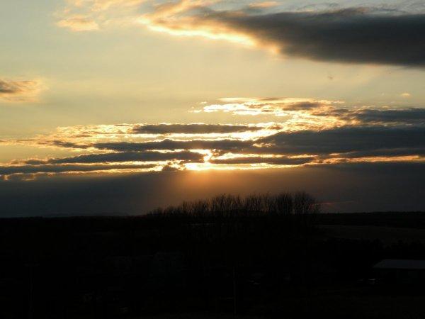 Coucher du soleil - 12e rang Ouest